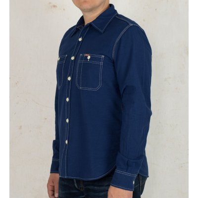 5.5oz Indigo Selvedge Oxford Cotton Work Shirt
