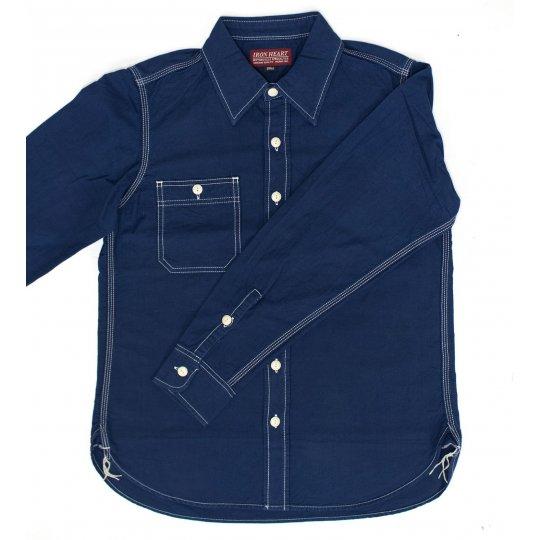 5.5oz Indigo Selvedge Oxford Cotton Work Shirt