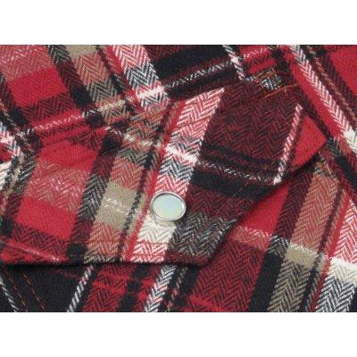 Mini Herringbone Spring Weight Flannel Western Shirt