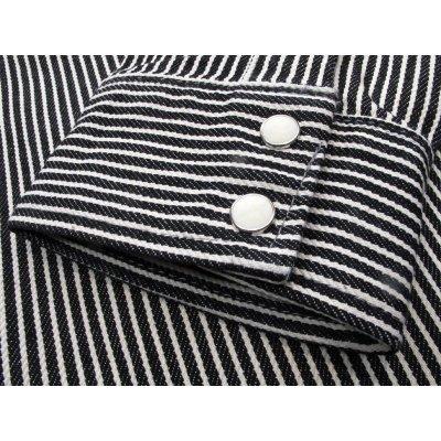 Black Hickory Stripe Western Shirt