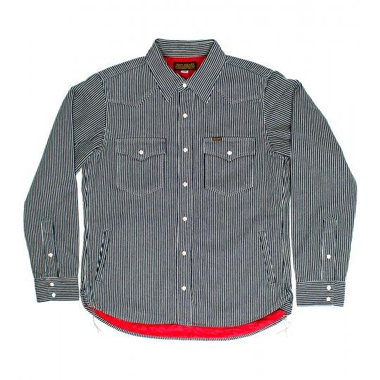 Indigo Hickory Stripe Quilt Lined Western
