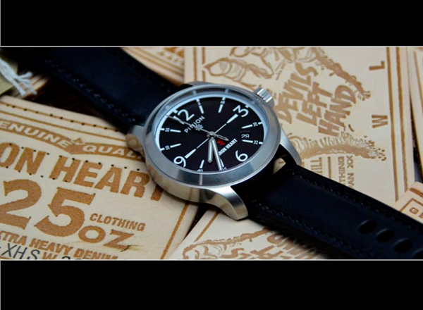 Image of the Iron Heart and Pinion collaboration watch